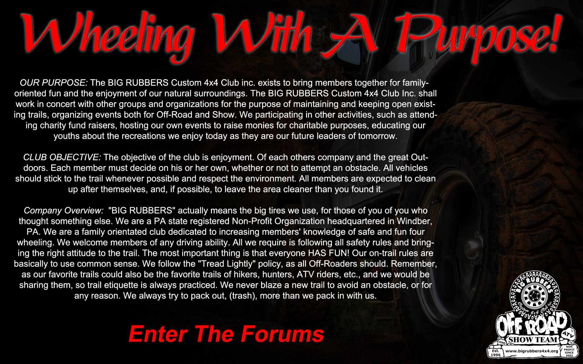 Enter the Forums